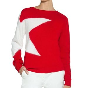 Eleventy Womens Star Wool-Mohair Pullover Sweater